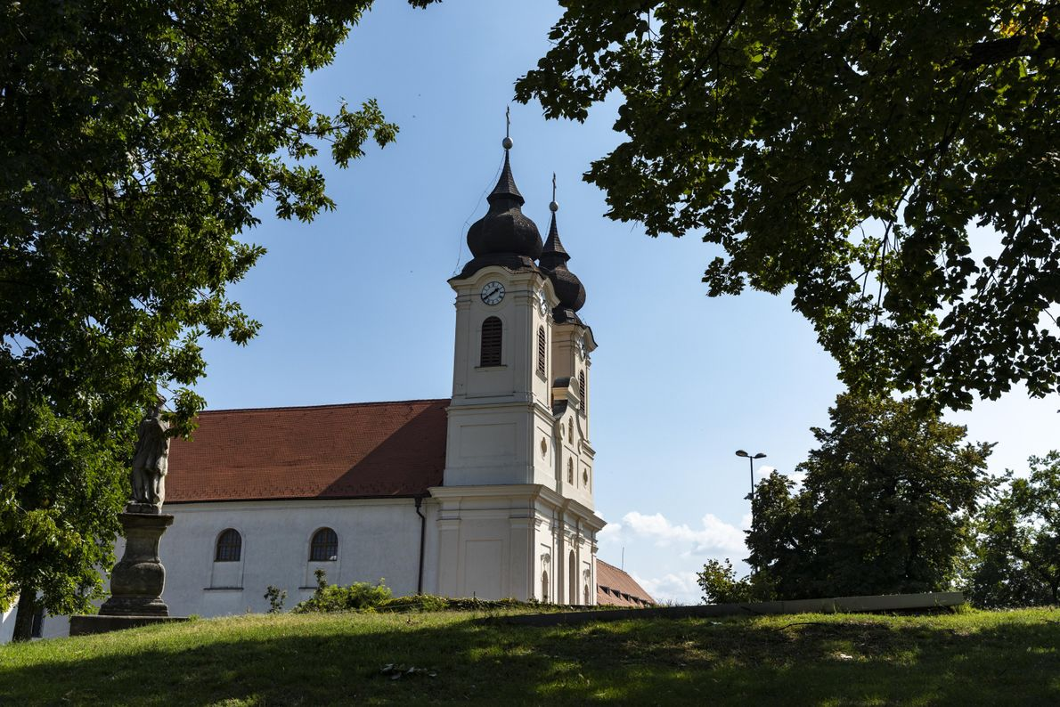 The Tihany Peninsula, known for its thick fields of lavender, juts into the northern side of ...