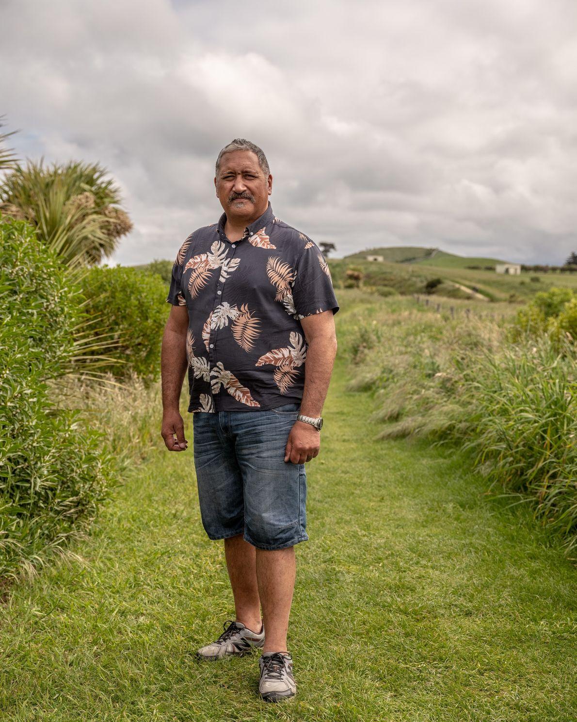 Brett Cowan, a kaumātua, a respected elder in Māori society. He volunteers his time teaching conservation ...
