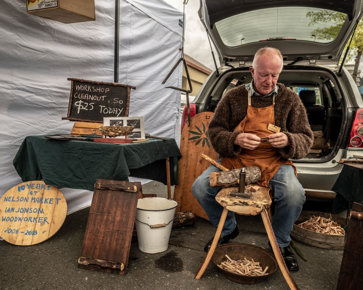 Ian Jonson is a woodworker, one of the many artists in Nelson Tasman, one of New ...