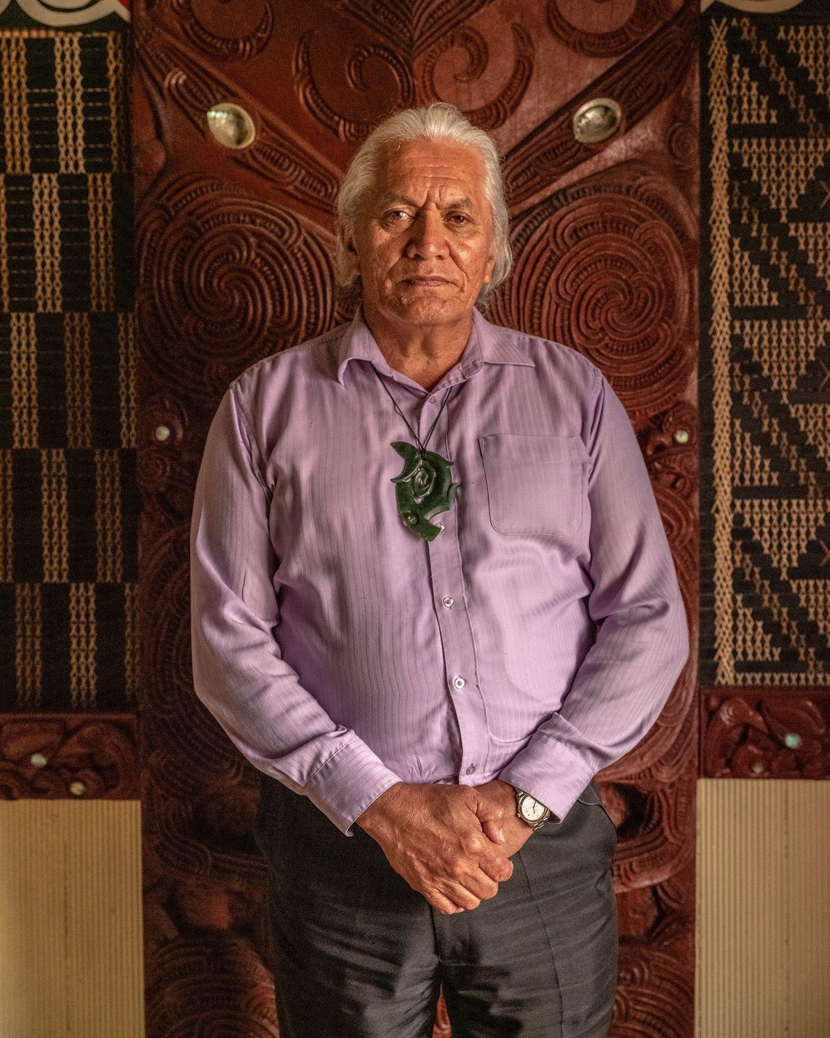 Te Taru White, a kaumatua (a respected elder in Māori society), pictured at the Te Takinga ...