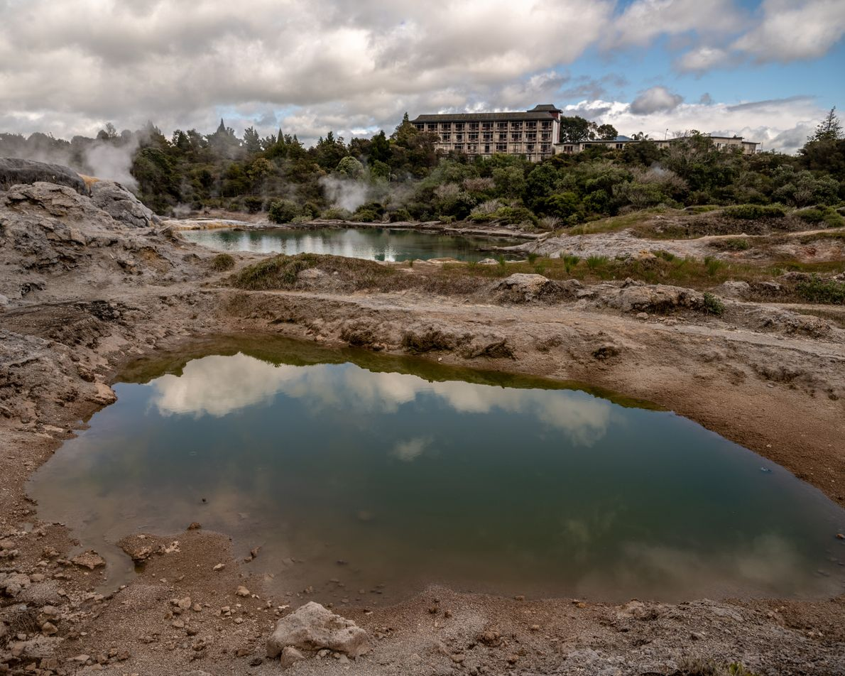 Te Puia in Rotorua is home to the New Zealand Māori Arts and Crafts Institute, which ...