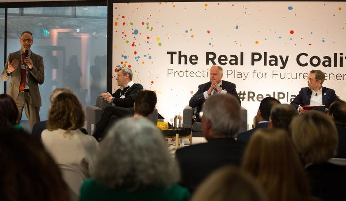 Picture of the Real Play Coalition made up of Lego Foundation, Unilever and Ikea Group. National ...