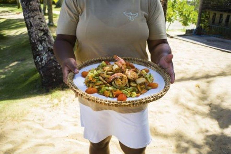 Seafood platter, Espelho Beach. Image: Uiler Costa Santos
