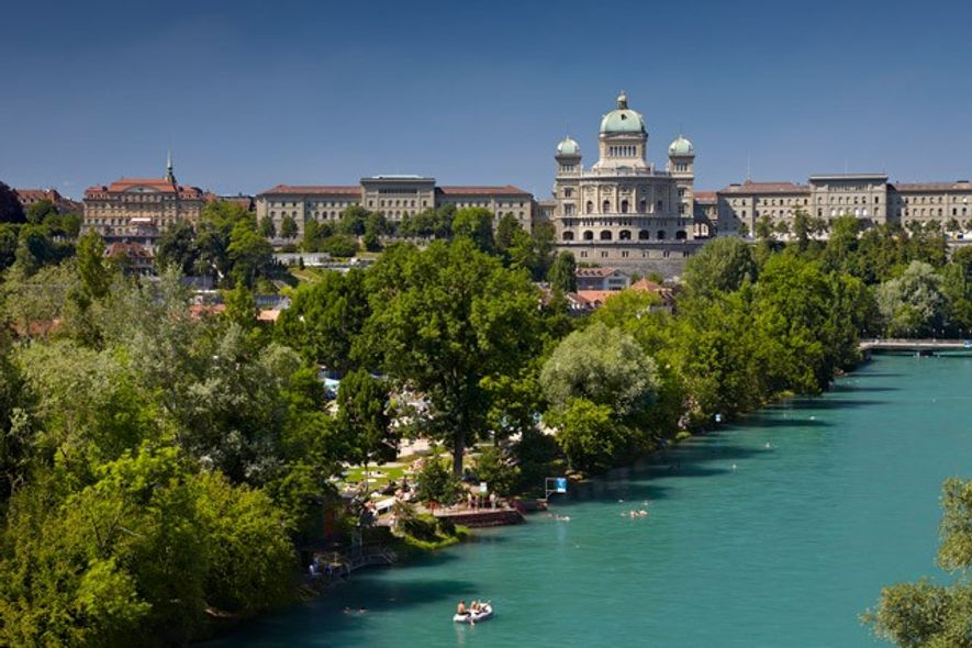 Swimming in the River Aare, Bern
