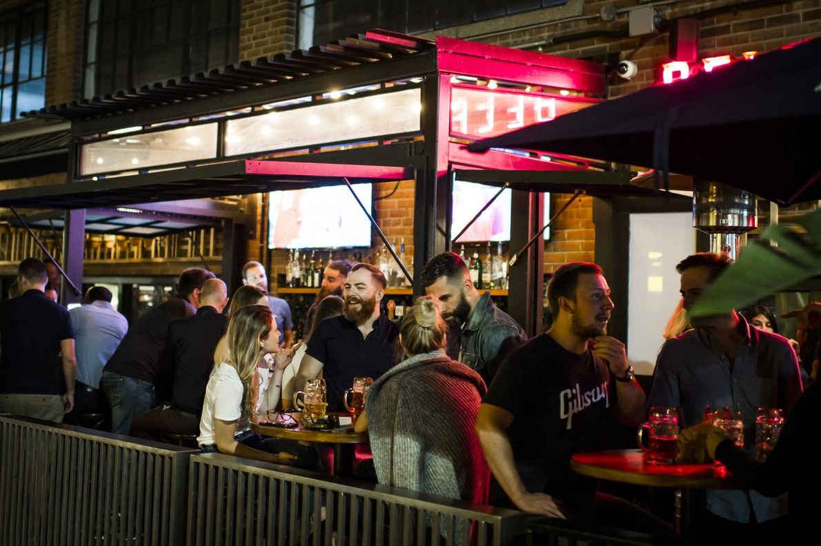 Toronto offers several outdoor bars and restaurants that draw big crowds.
