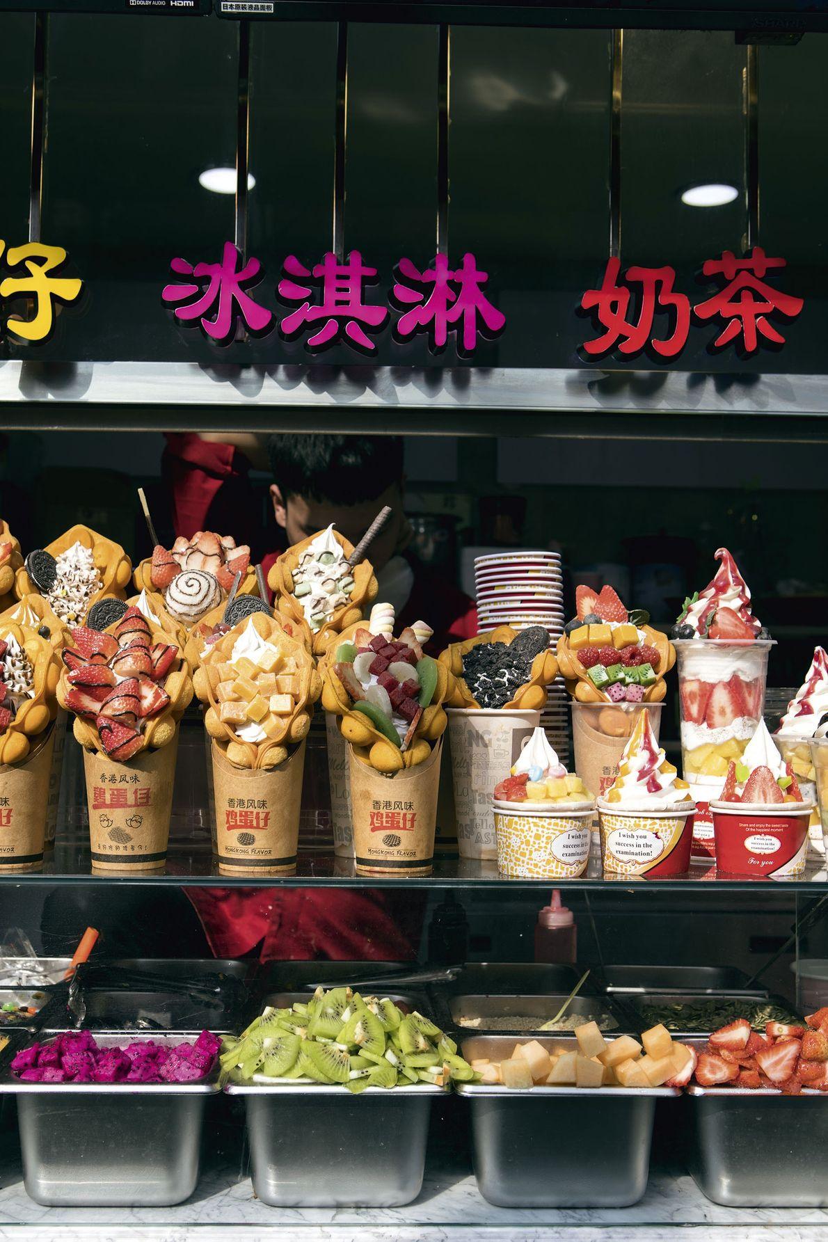 Plastic food, Datianshuijing food street