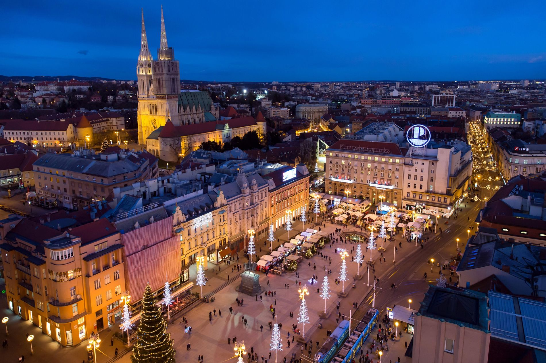 Zagreb's Christmas market in the central Ben Jelacic Square, pictured here, as well as European Square and Zrinjevac Park, has been named best Christmas market in Europe three years running.