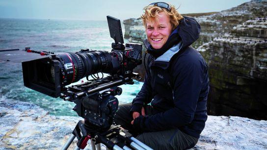 Wildlife filmmaker, Bertie Gregory, on location.