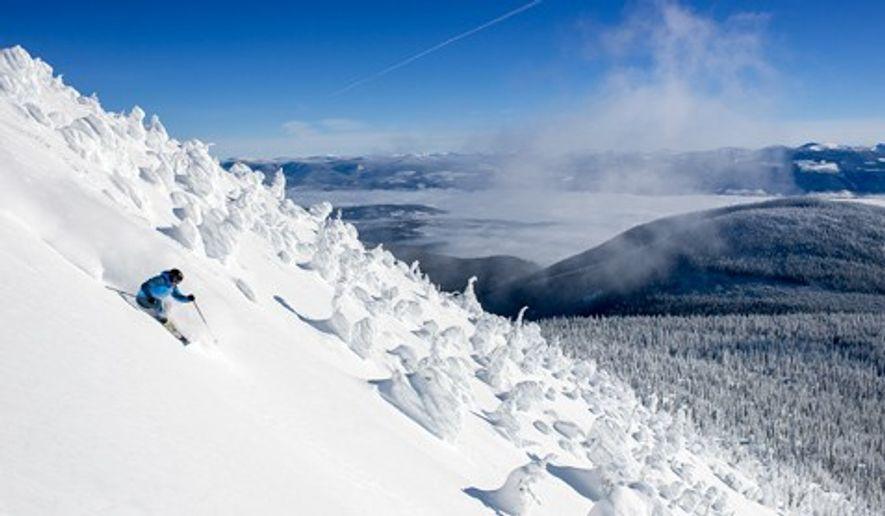 Downhill skiing at Big White Ski Resort, British Columbia, Canada. Image: Destination BC/Blake Jorgenson