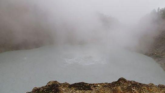 Boiling lake, Geneva.