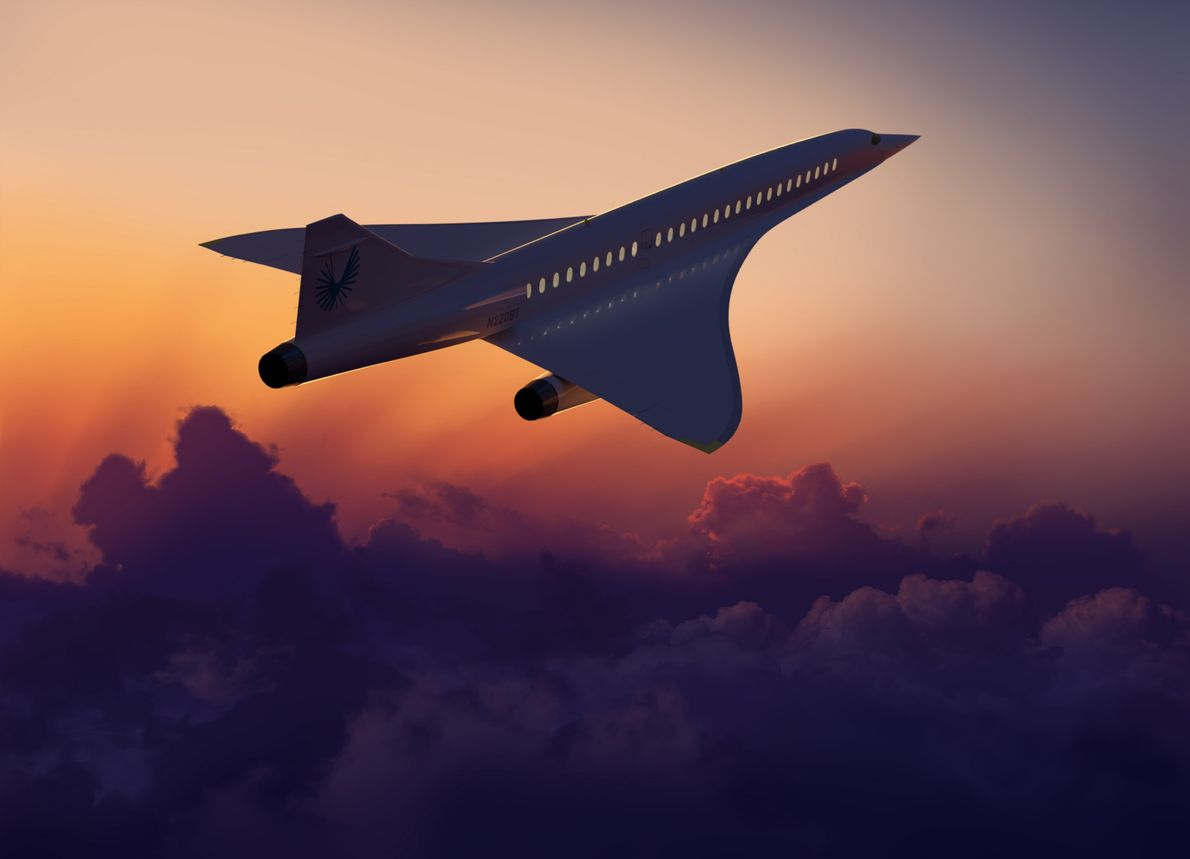 The Boom Overture – one of a new generation of proposed supersonic airliners – is strongly ...