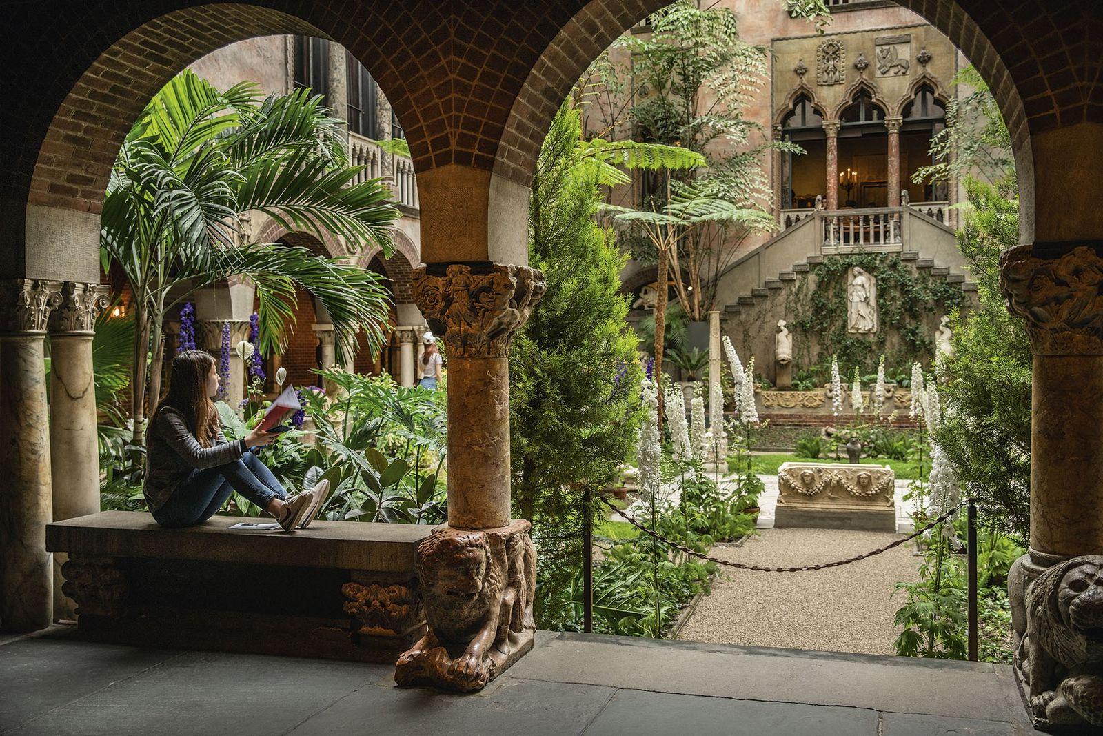 Courtyard, Isabella Stewart Gardner Museum.