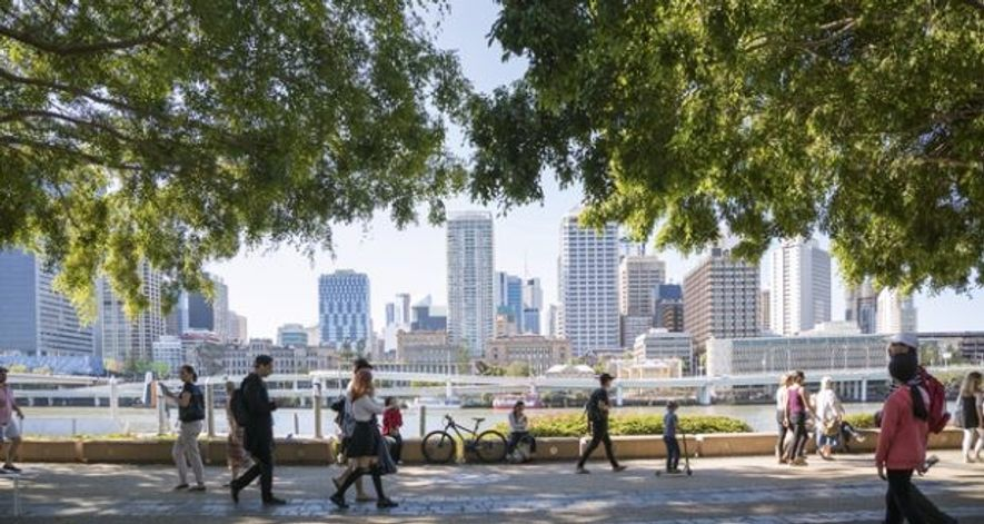 View of Brisbane CBD from South Bank.