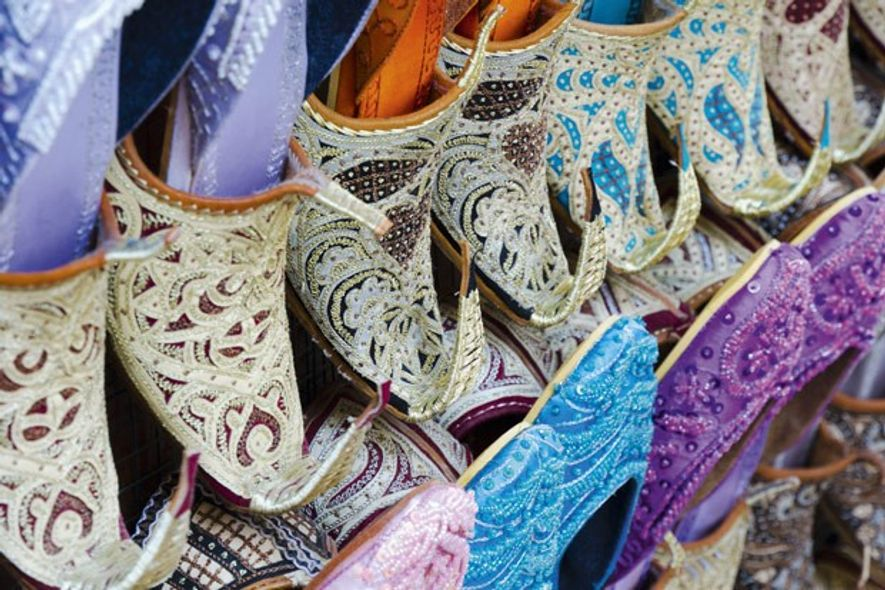 Slippers at Bur Dubai Souk. Image: AWL Images/Alan Copson.