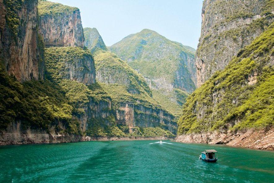 Yangtze River near the Three Gorges Dam. Image: Alamy