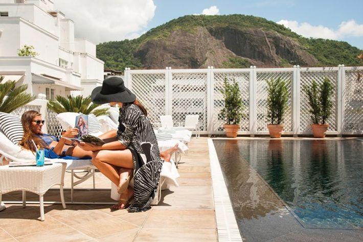 Private swimming pool, Penthouse Suites, Belmond Copacabana Palace. Image: Belmond
