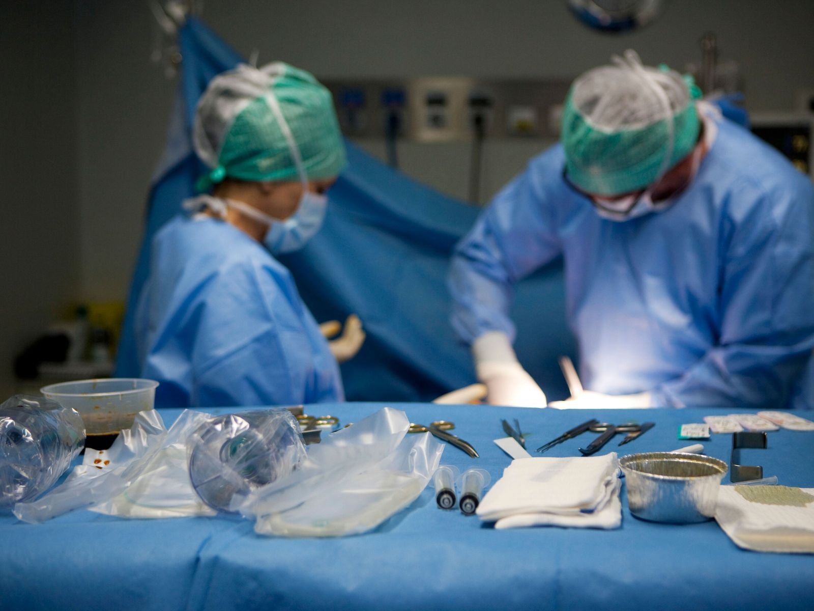 Awash with 'blue wrap' and sanitised bags, modern surgery is germ-controlling because of a proliferation of ...