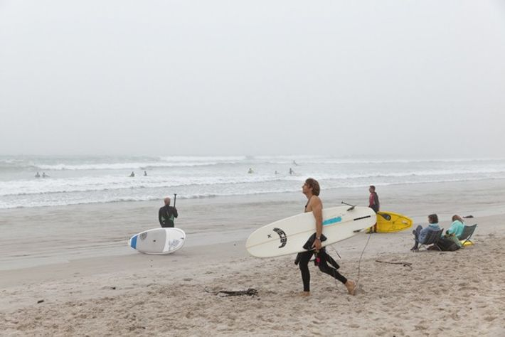 Muizenberg Beach surfers.