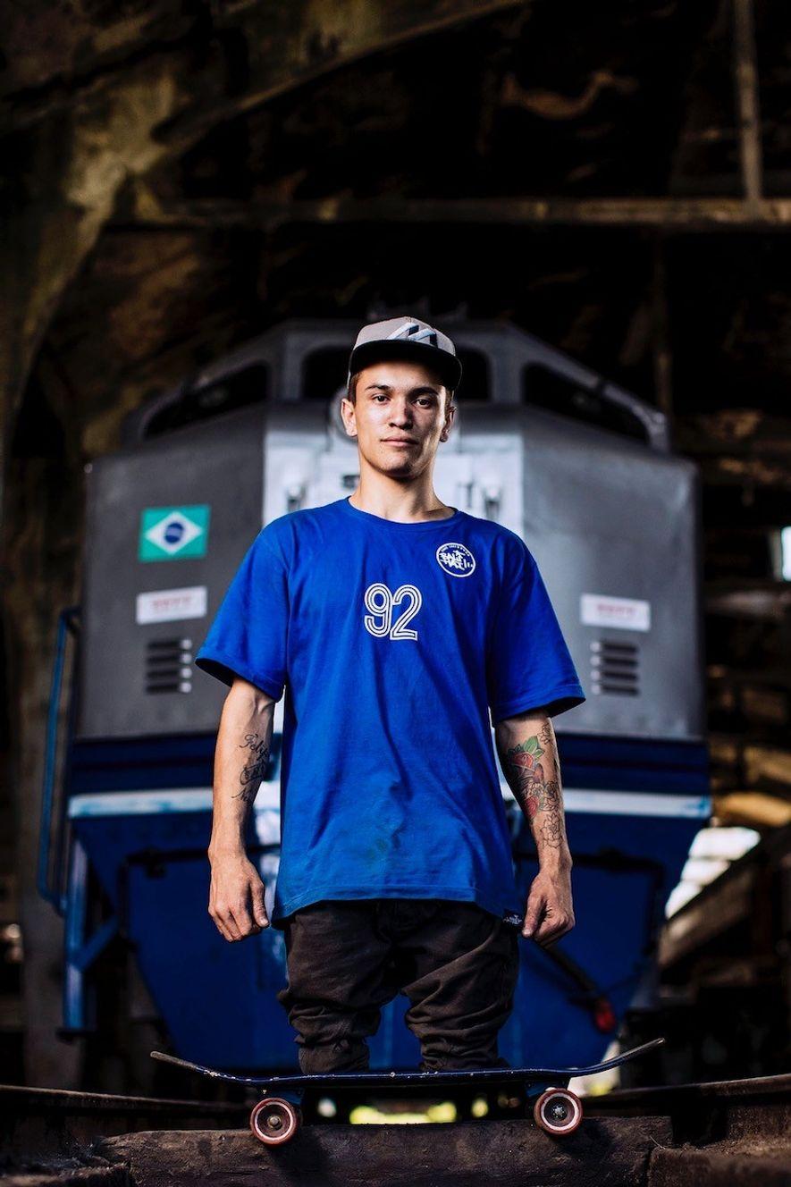 Samo Vidic photographed Brazilian skateboarder Felipe Nunes – who lost his legs in an accident as ...