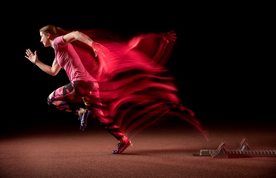 The photographer created a professional campaign-worthy motion blur effect with an unexpected tool: a light in ...
