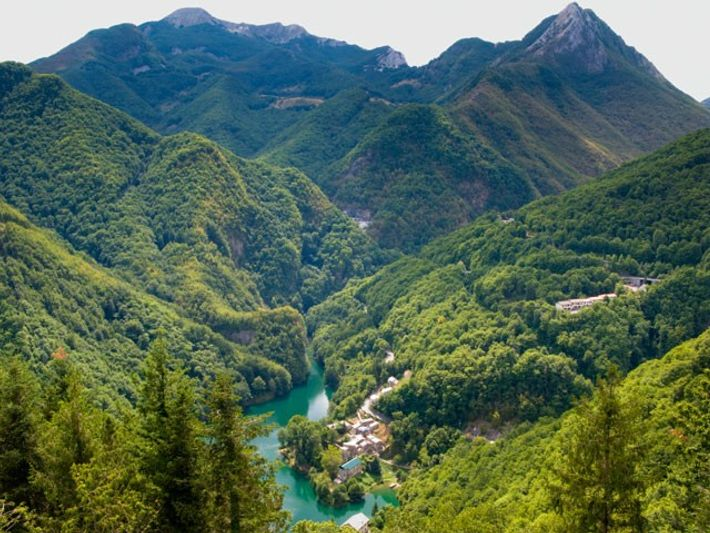 Isola Santa in the Appuan Alps, Tuscany