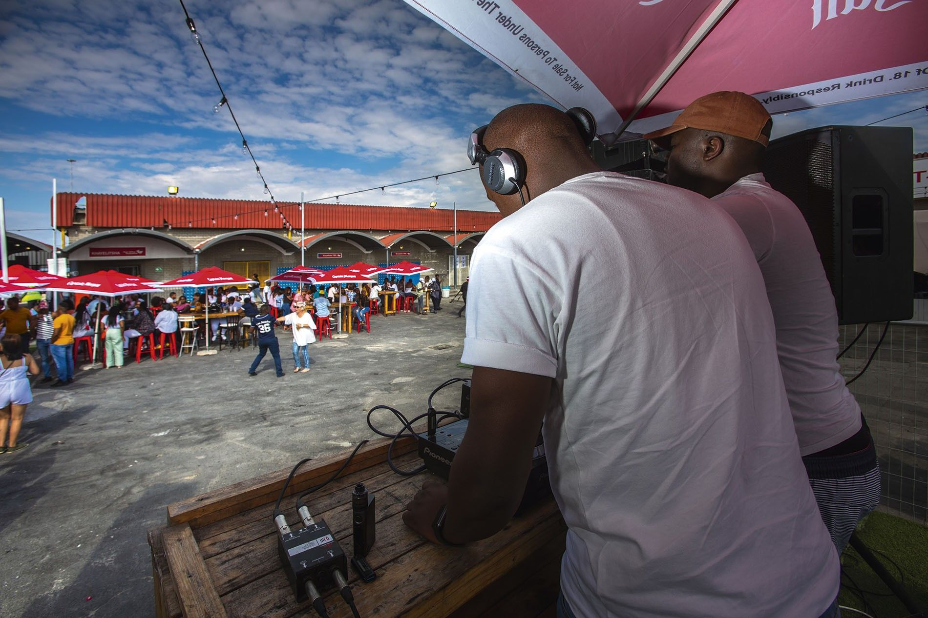 Rands, an outdoor nightclub in Khayelitsha, Cape Town's largest township. Khayelitsha's a young place, with more than 40% of inhabitants under 19.