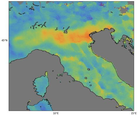 One of the first images from the Copernicus Sentinel-5P mission showed high levels of carbon monoxide ...