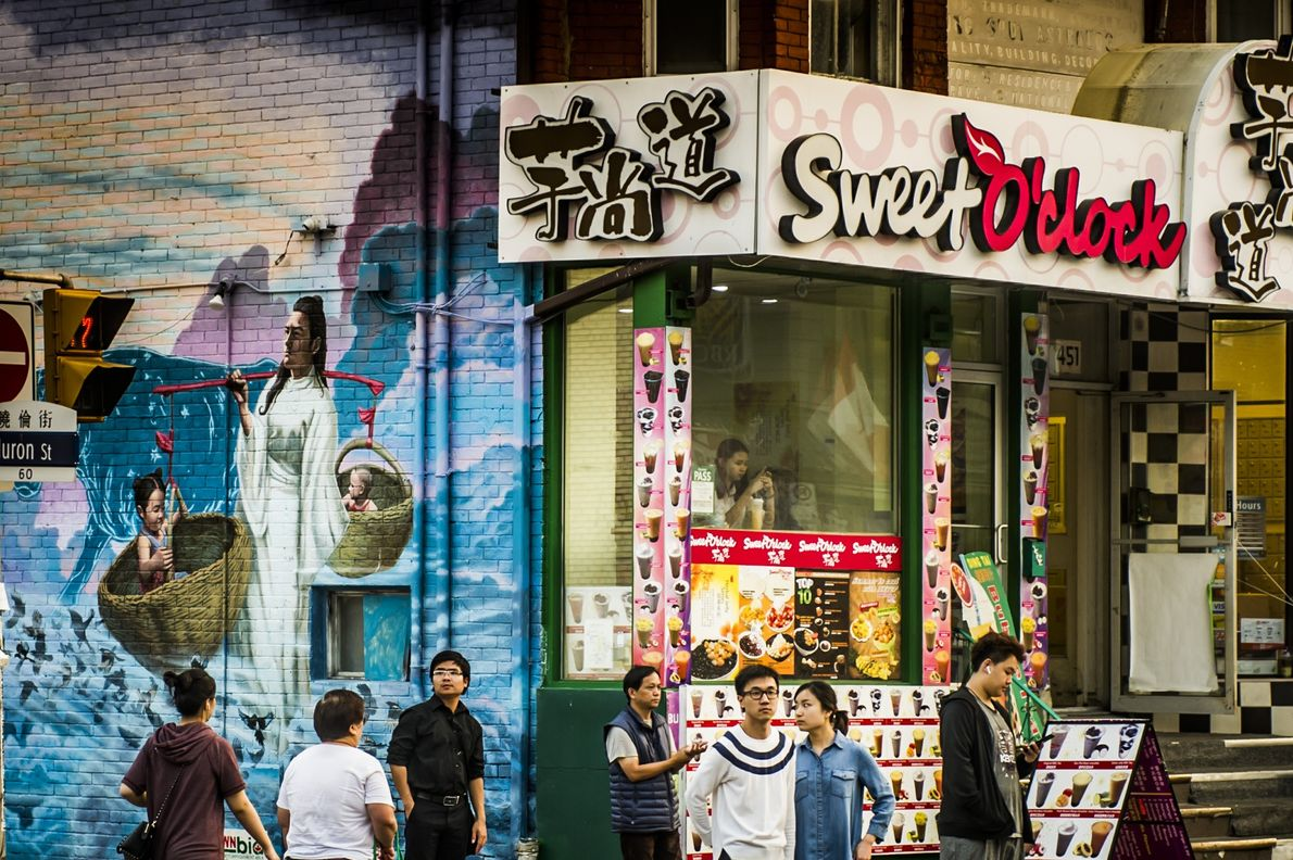 Chinatown is a bustling area full of colourful murals, shops, fruit markets and authentic Asian restaurants.