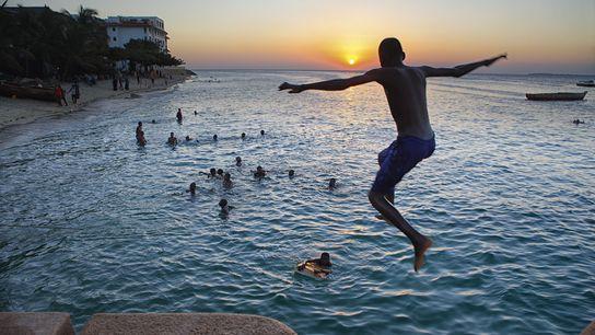 Zanzibar at sunset.