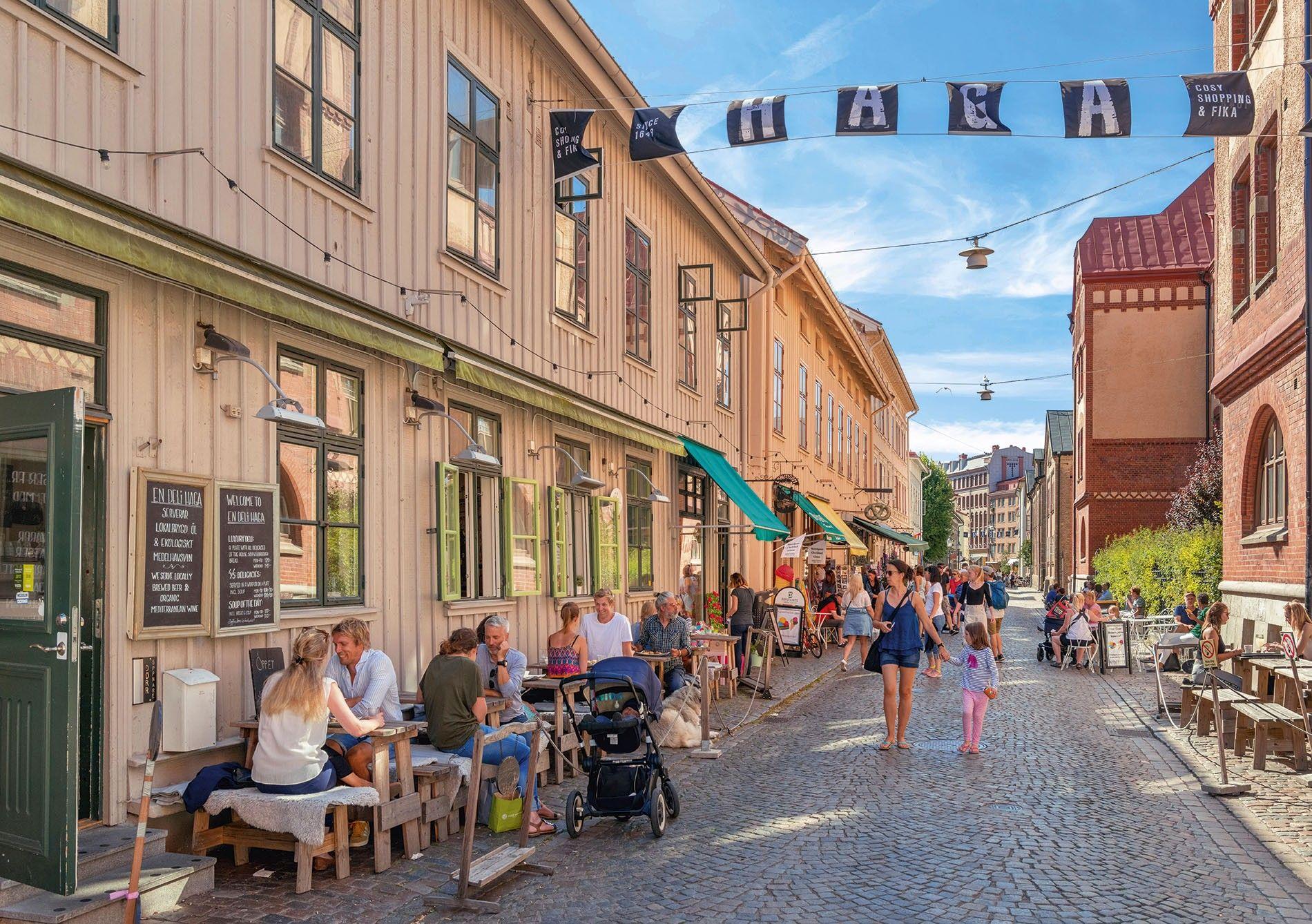 Haga Nygata in the Haga district, Gothenburg