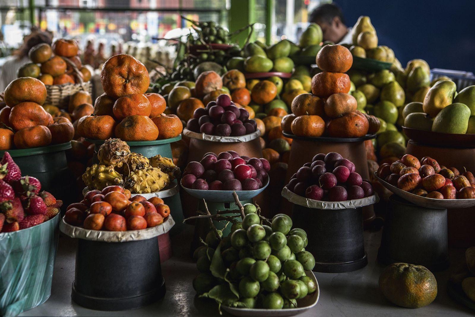 Produce at Paloquemao market