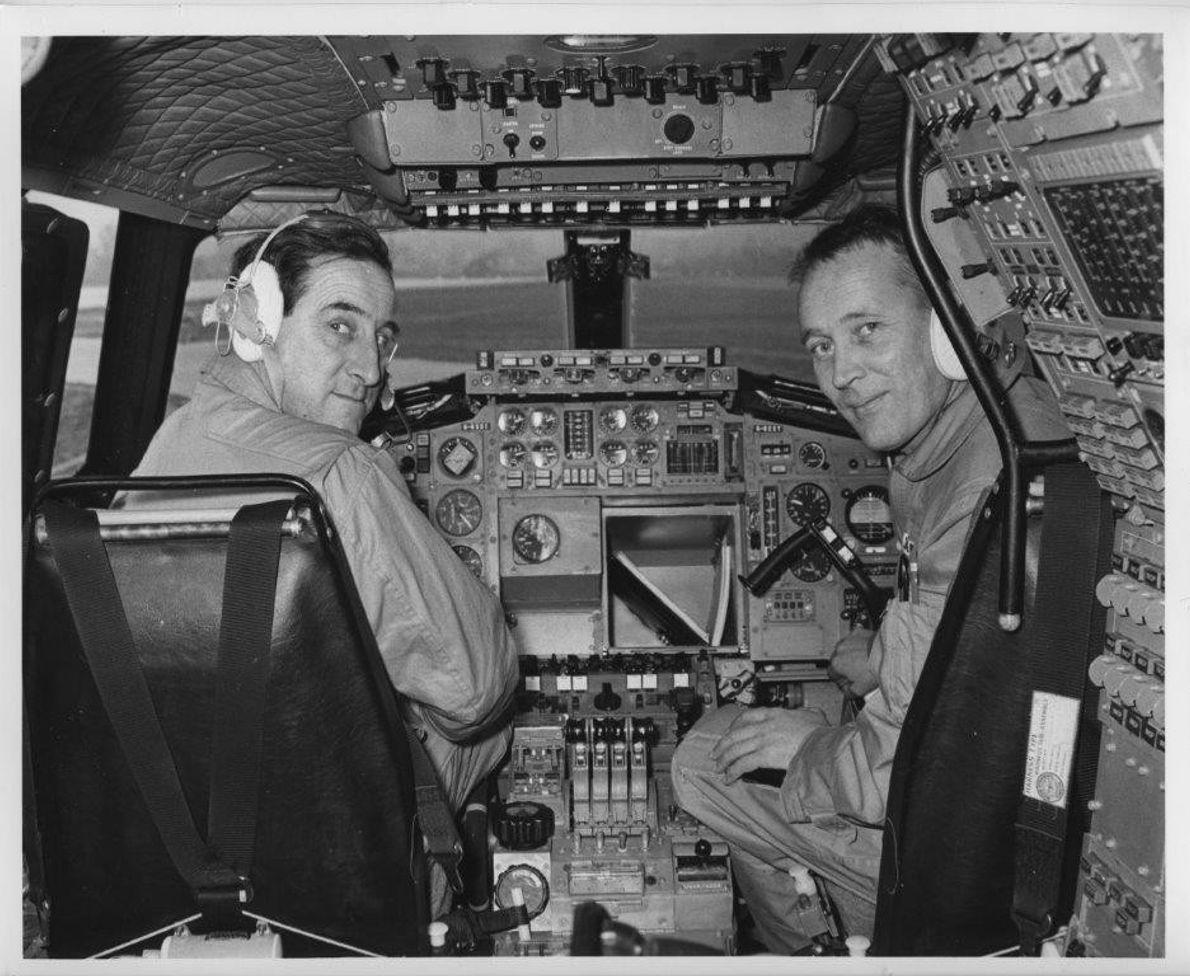 Concorde test pilots Brian Trubshaw and John Cochrane, 1969.