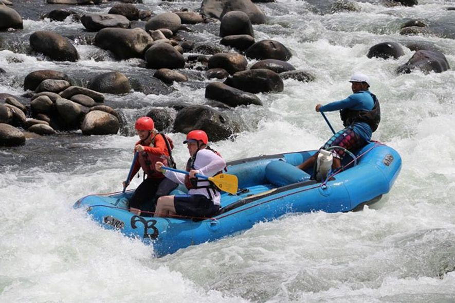 Rafting in Costa Rica.