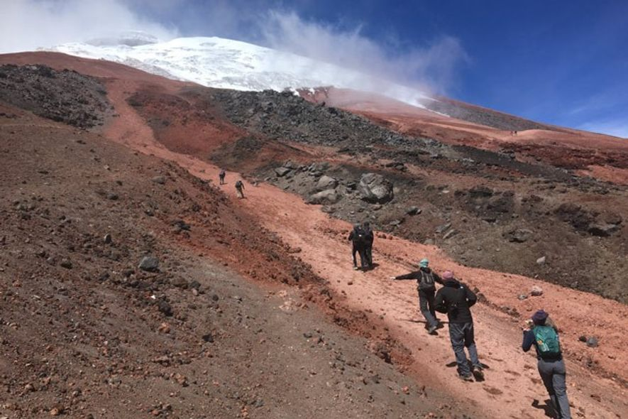 Hiking Cotopaxi Volcano.