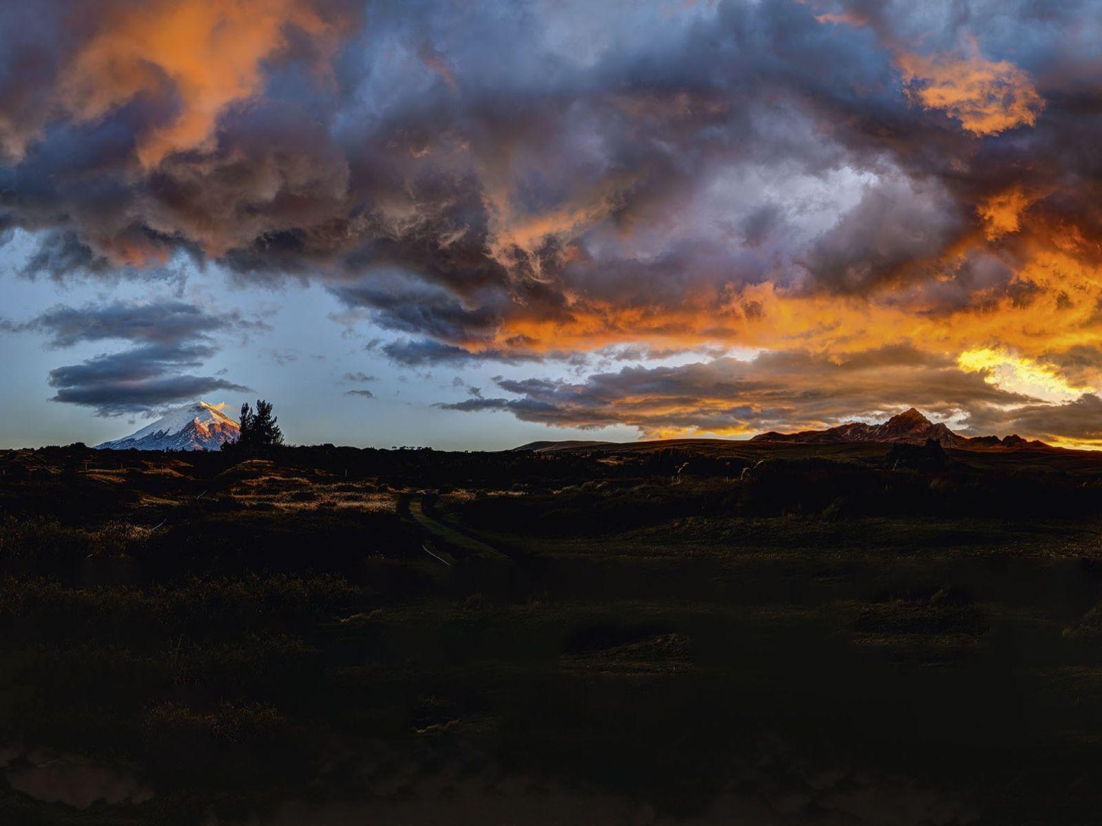 Sunset over Cotopaxi, Ecuador