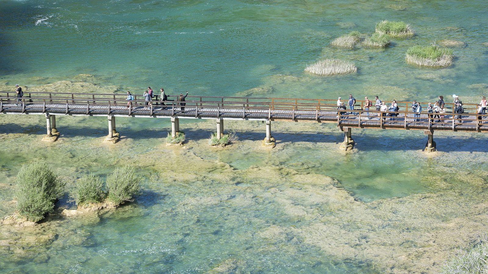 Wooden bridge, Krka National Park