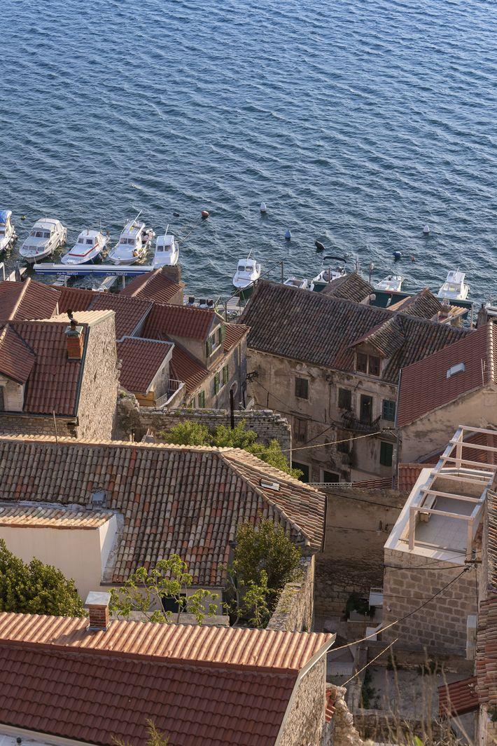 Rooftops and sea, Šibenik