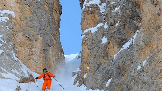 On the piste in the Three Valleys