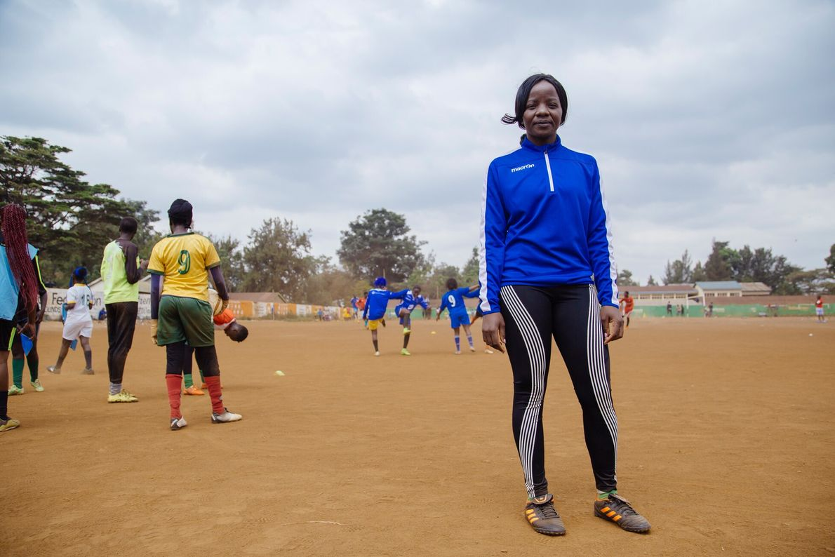 """Footballer-turned-coach Ann Aluoch. """"We (female players) don't take football as a career in this nation because ..."""