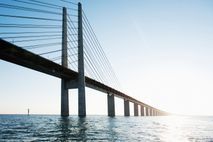 Oresund Bridge, which links Sweden and Denmark, has been cited as a possible design for a ...