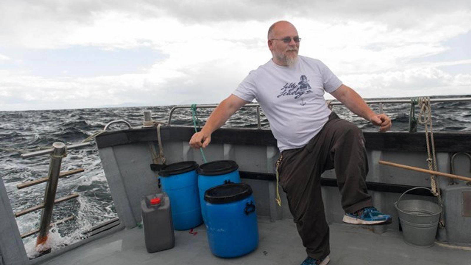 Skipper Paddy Byrne, Sliabh Liag, Donegal