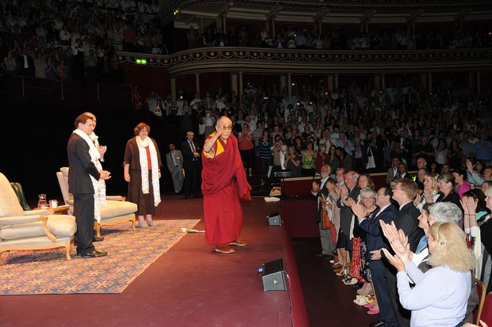 The Dalai Lama gave a talk on Universal Responsibility in the Modern World in aid of ...