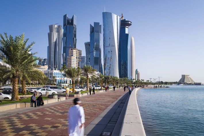 View of skyscrapers in Doha