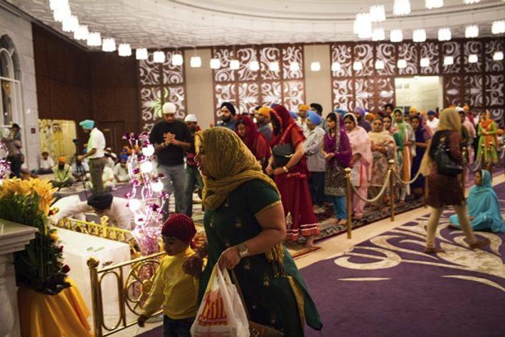 Diwali celebrations in Dubai at a Sikh temple in Jebel Ali