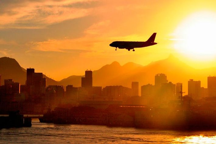 Plane lands in South America