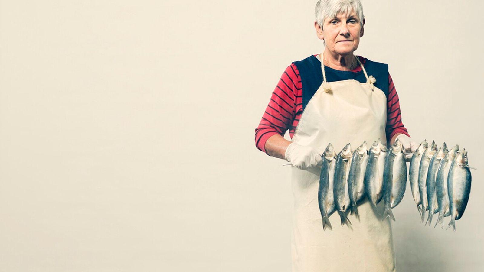 Frances Brown, fish smoker; St Monans, Fife, Scotland.