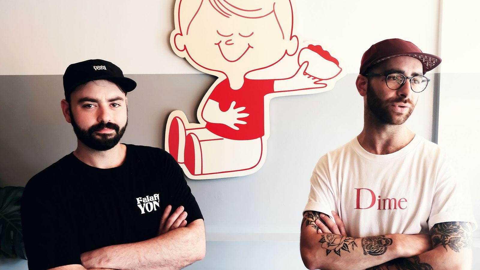 Falafel Yoni owners Daniel and Yoni