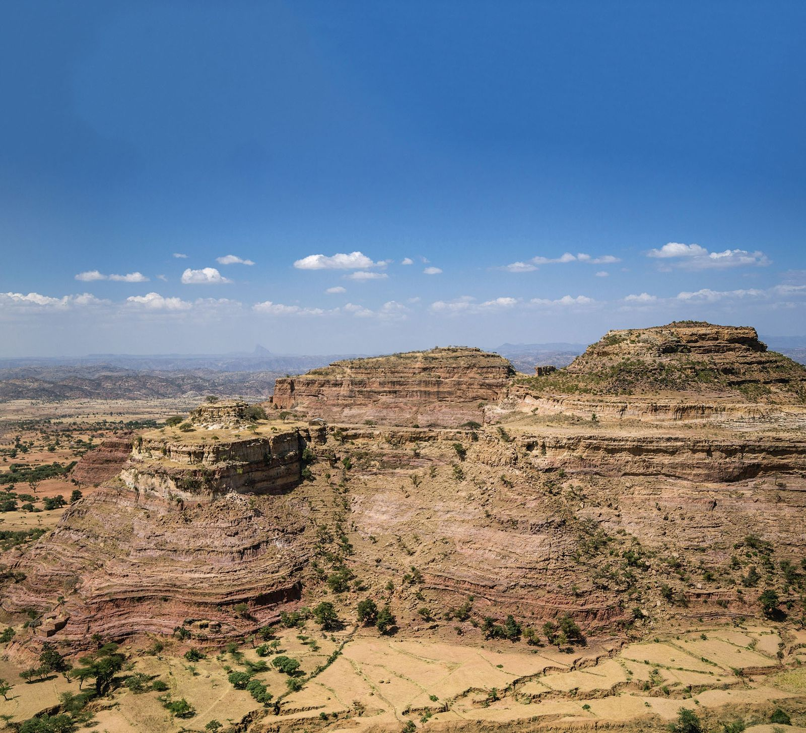 Sandstone mountains in Tigray region.