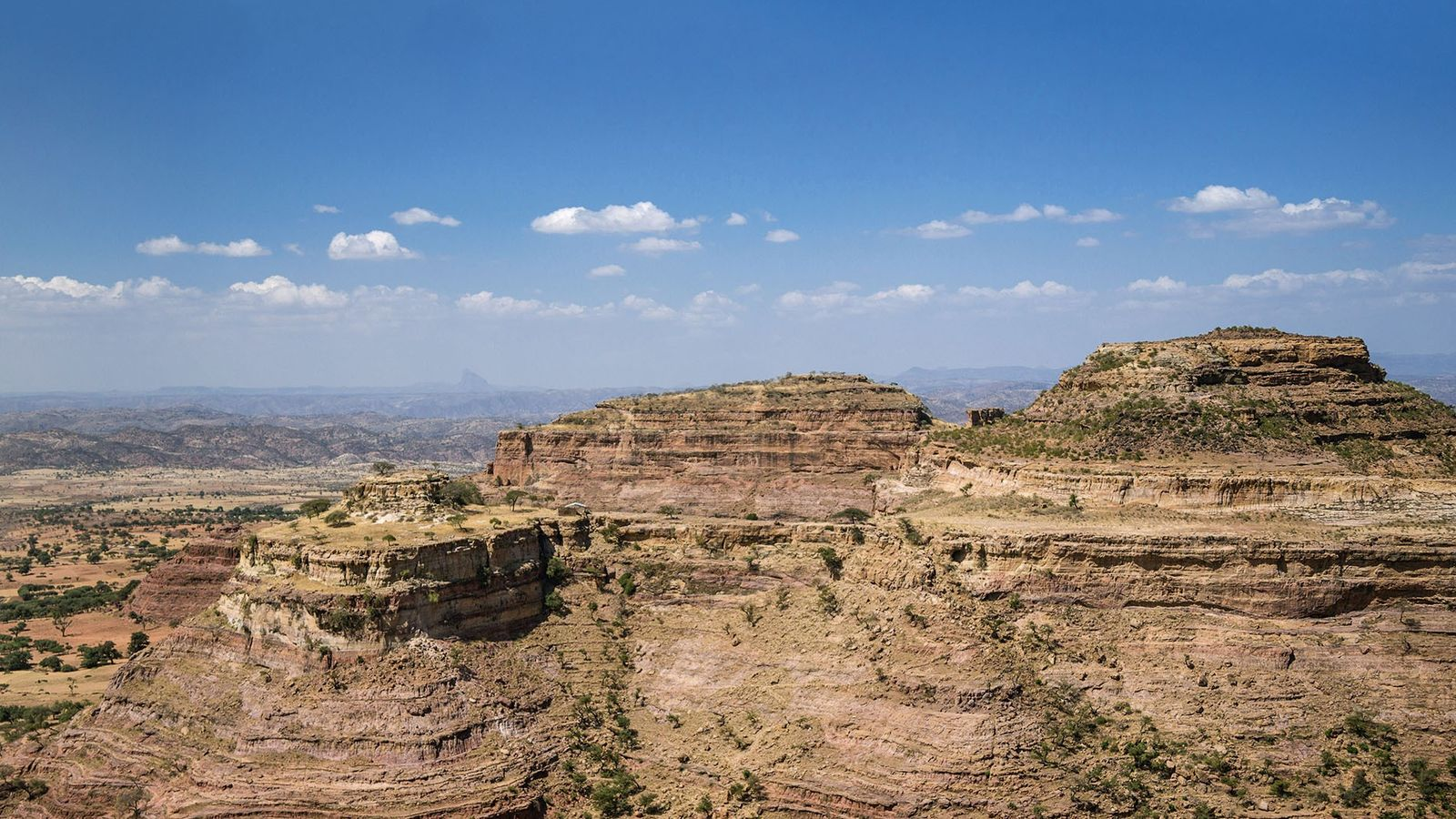 Sandstone mountains in Tigray region.