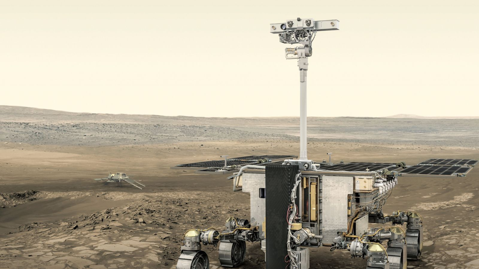 The European Space Agency's ExoMars 2020 rover will search for evidence of life on the red ...